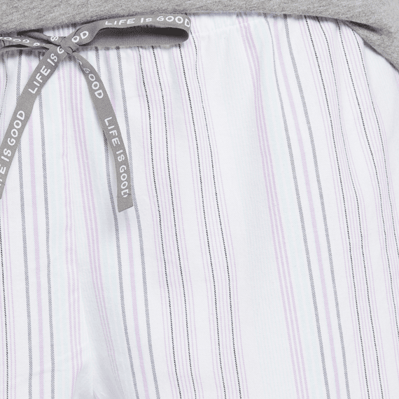 Women's Grape Bermuda Stripe Classic Sleep Boxer