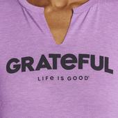 Women's Grateful Favorite Split Neck Tee
