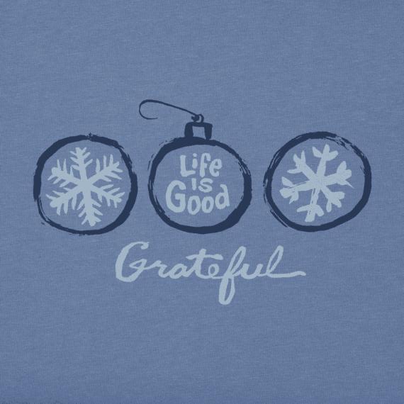 Women's Grateful Snowflakes Long Sleeve Crusher Vee