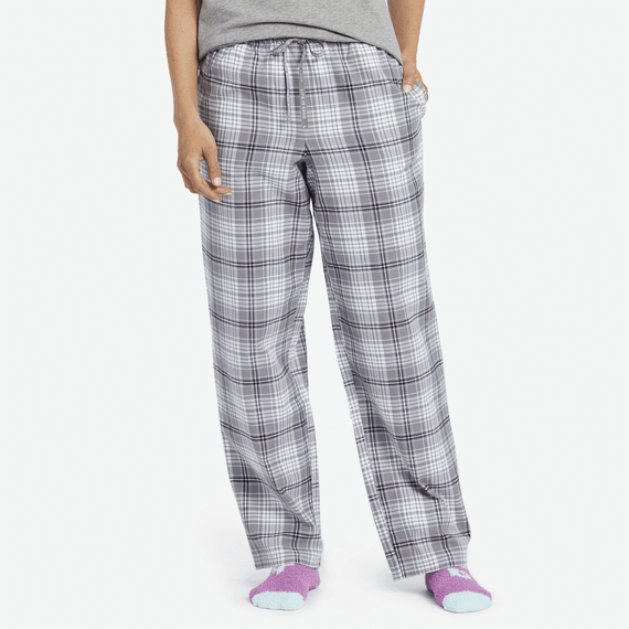 fa33910eaaf7 Women s Gray Grape Plaid Classic Sleep ...
