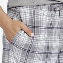 Women's Gray Grape Plaid Classic Sleep Pant