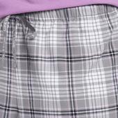 Women's Grey Grape Plaid Classic Sleep Boxer