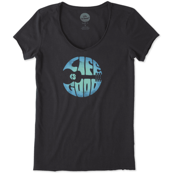 Women's Groovy Guitar Smooth Scoop Tee