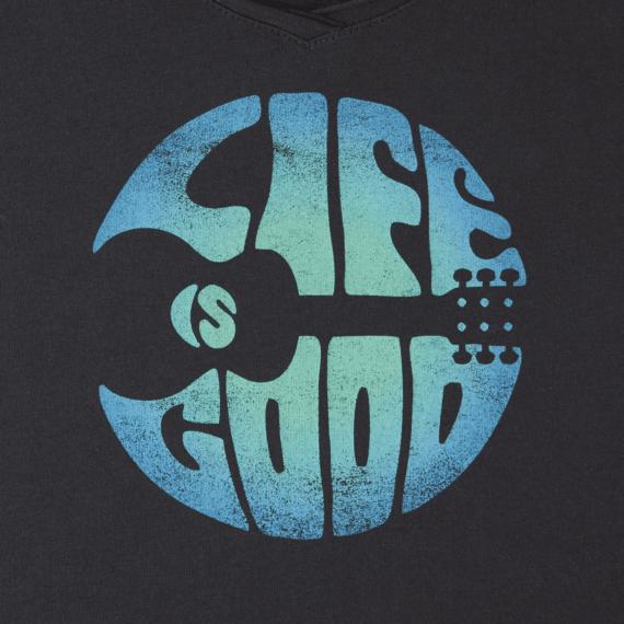 Women's Groovy Guitar Smooth Scoop Tee