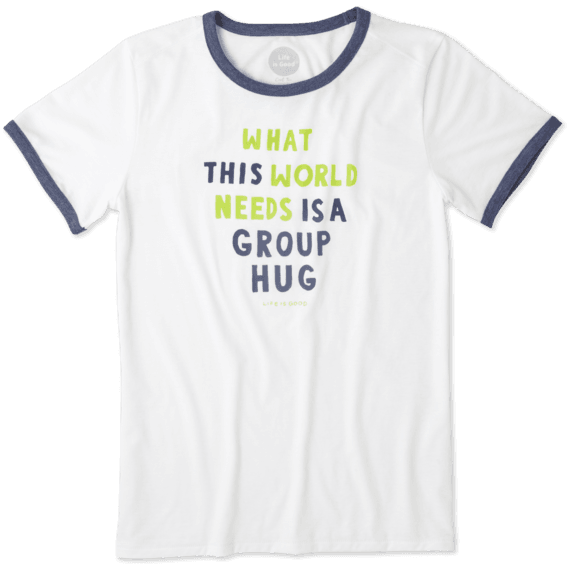 Women's Group Hug Ringer Cool Tee