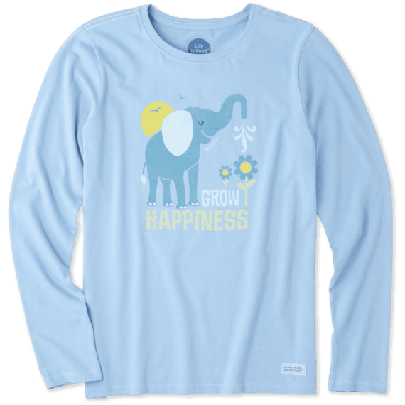 Women's Grow Happiness Long Sleeve Crusher Tee