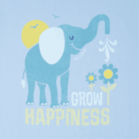 Women's Grow Happiness Long Sleeve Crusher Tee