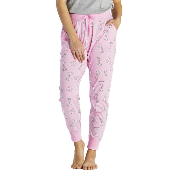 Women's Gull Print Snuggle Up Sleep Jogger