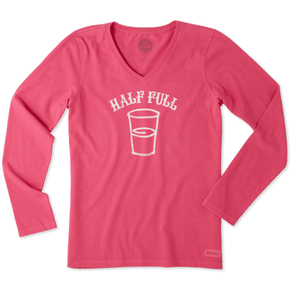 Women's Half Full Arc Long Sleeve Crusher Vee