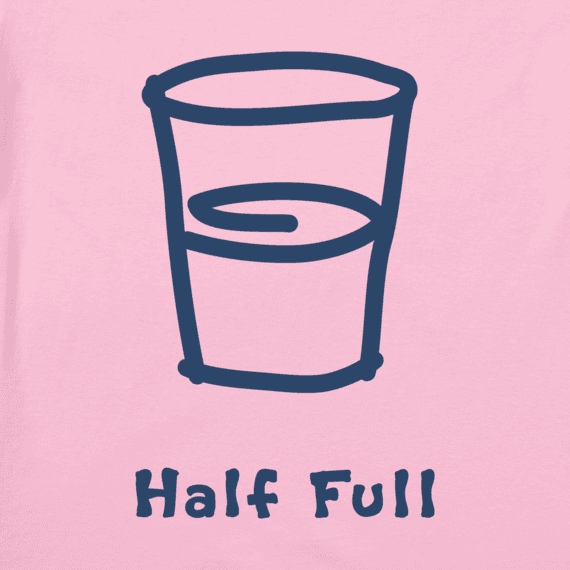 Women's Half Full Vintage Crusher Tee