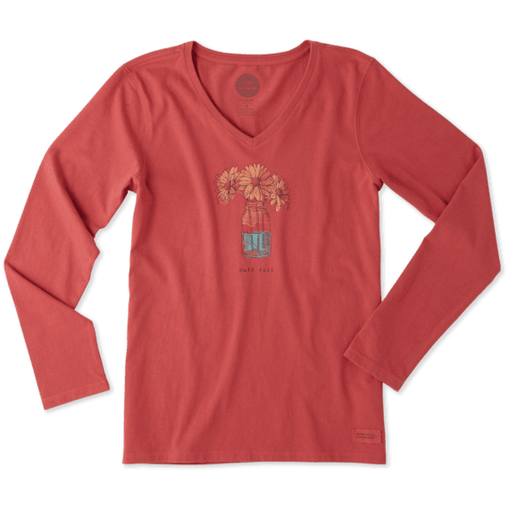 Women's Hall Full Daisy Long Sleeve Crusher Vee