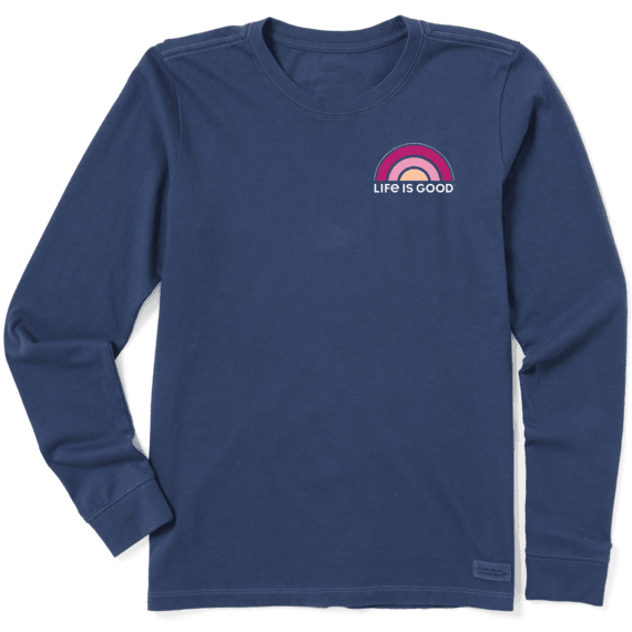 Women's Happiness Comes in Waves Crusher Long Sleeve