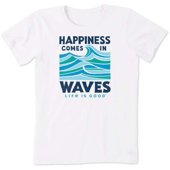 Women's Happiness Comes in Waves Crusher Tee