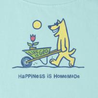 Women's Happiness is Homemade Crusher Scoop Tee