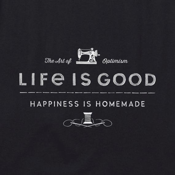 Women's Happiness is Homemade Sewing Crusher Vee