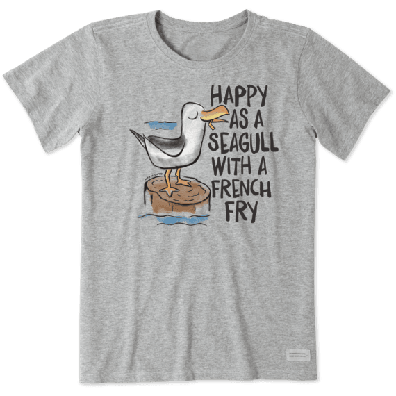 Women's Happy As A Seagull Crusher Tee