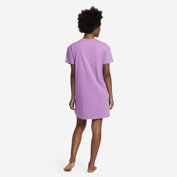 Women's Happy Bed Snuggle Up Relaxed Sleep Dress