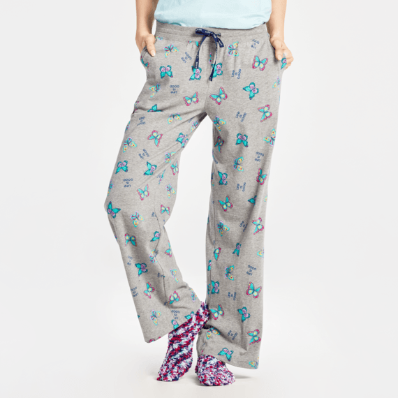 Women's Happy Butterflies Snuggle Up Sleep Pant