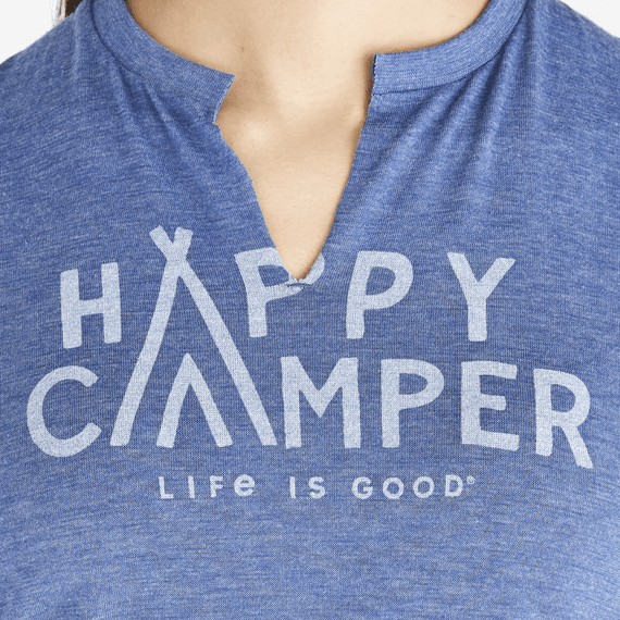 Women's Happy Camper Favorite Split Neck Tee