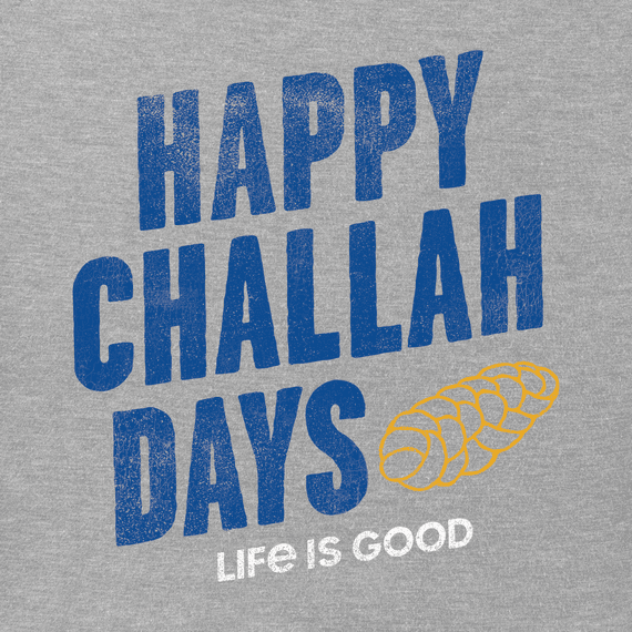 Women's Happy Challah Days Long Sleeve Crusher Vee
