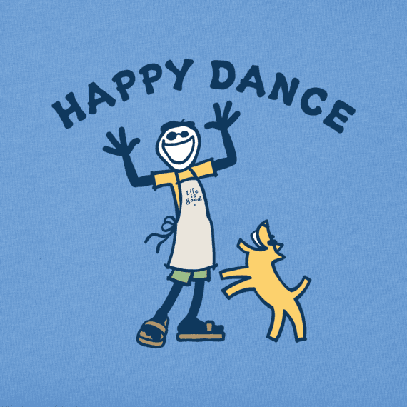 Sale Women S Happy Dance Jake Crusher Tee Life Is Good Official Site