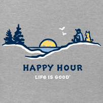 Women's Happy Hour Pine Sunset High-Low Crusher-LITE Tank