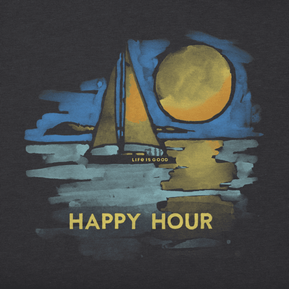 Women's Happy Hour Sailboat Crusher Tee