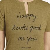 Women's Happy Looks Good Favorite Split Neck Tee