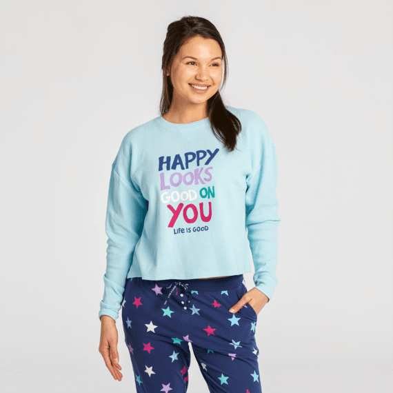 Women's Happy Looks Good on You Thermal Long Sleeve Sleep Tee
