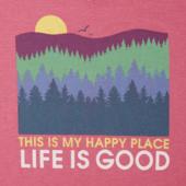 Women's Happy Place Trees Cool Vee