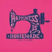 Women's Happy Sewing Machine Crusher Vee