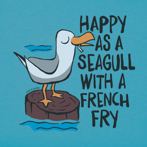 Women's Happy as a Seagull Crusher Vee