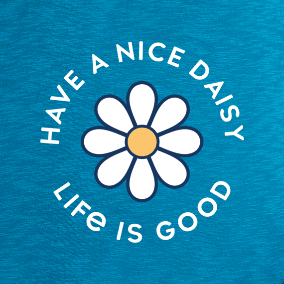 Surfer Blue Life is Good Girls Love Daisy Easy Tee