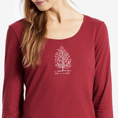Women's Heart Tree Long Sleeve Sleep Tee