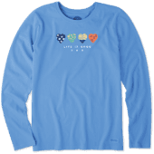 Women's Hearts Long Sleeve Crusher Tee