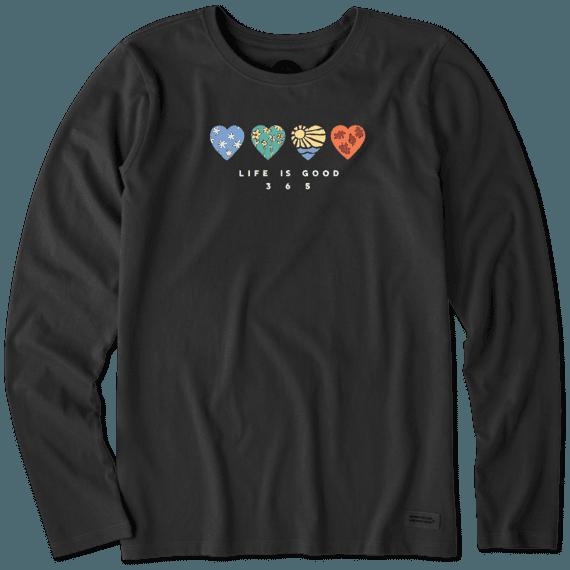 Women's Hearts Long Sleeve Crusher Tee