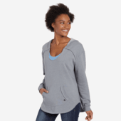 Women's Heather Look Simply True Exposed Seam Hoodie