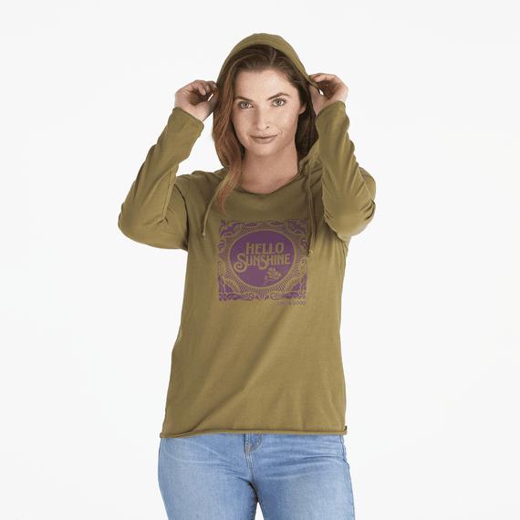 Women's Hello Sunshine Long Sleeve Hooded Smooth Tee