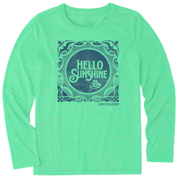 Women's Hello Sunshine Stamp Long Sleeve Cool Tee