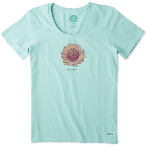 Women's Hello Sunshine Sunflower Crusher Scoop Tee