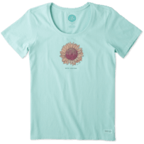 Women's Hello Sunshine Sunflower Crusher Scoop Tee