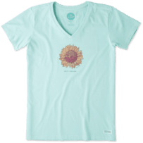 Women's Hello Sunshine Sunflower Crusher Vee
