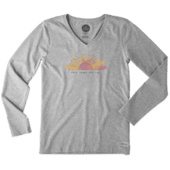 Women's Here Comes The Sun Long Sleeve Crusher Vee