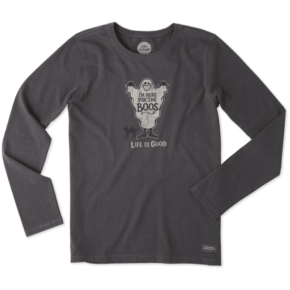 Women's Here For The Boos Long Sleeve Crusher Tee