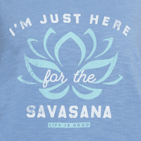 Women's Here For The Savasana Breezy Tank