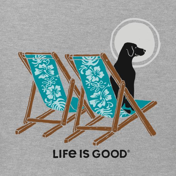 Women's Hibiscus Beach Chairs With Dog Crusher Tee