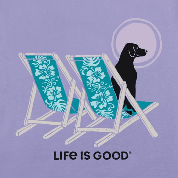 Women's Hibiscus Beach Chairs With Dog Crusher Vee