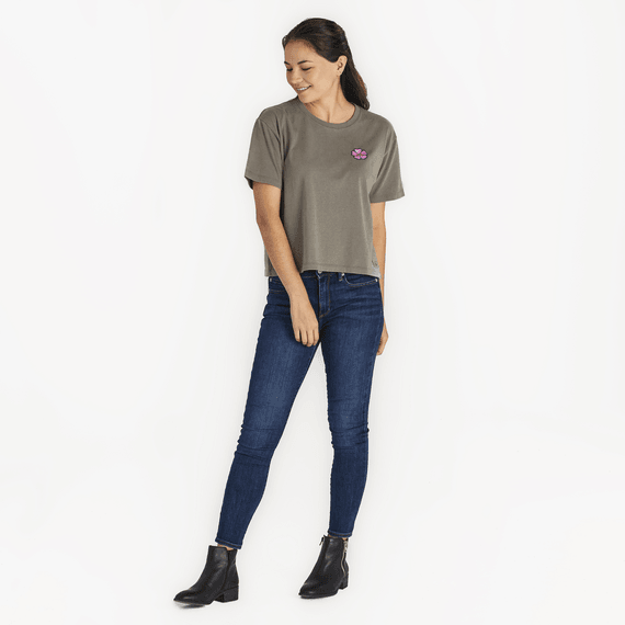 Women's Hibiscus Boxy Crusher Tee