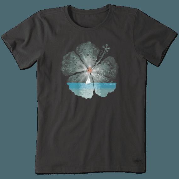 Women's Hibiscus Sail Crusher Tee