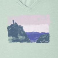 Women's Hike Scene Painted Long Sleeve Cool Vee
